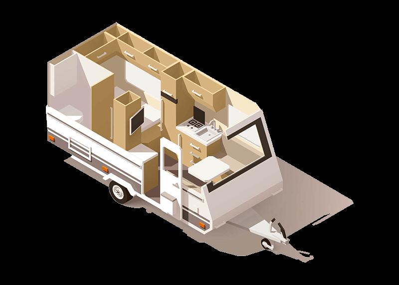 Wohnwagen Grundriss